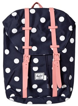 Herschel Retreat Youth Peacoat Polka Dot/Strawberry Ice Rub