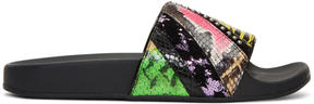 Marc Jacobs Multicolor Patchwork Punk Cooper Slides
