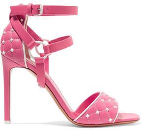 Valentino Garavani The Rockstud Quilted Leather Sandals - Pink