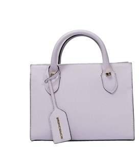 Borbonese Women's White Leather Handbag.