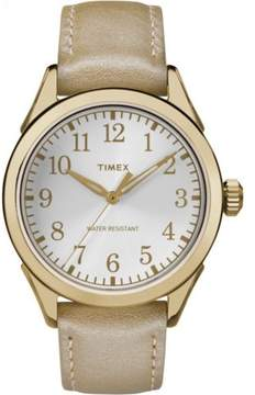 Timex Women's Briarwood Terrace | Glossy Leather Strap Silver-Tone Dial | Casual