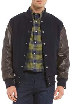 Daniel Cremieux Wool Varsity Letterman Bomber Jacket