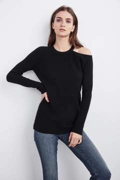Velvet by Graham & Spencer RORY CUT OUT CASHMERE SWEATER