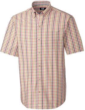 Cutter & Buck Blue & Tan Plaid Mallow Shirt - Men
