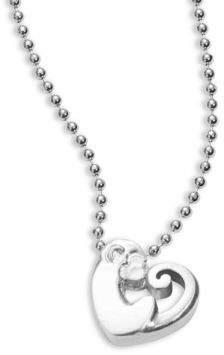 Alex Woo Sterling Silver Activist Love Monkey Icon Necklace