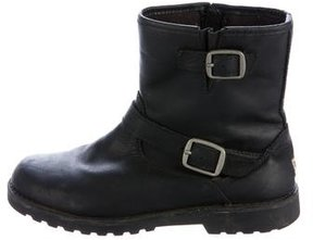 UGG Girls' Leather Ankle Boots