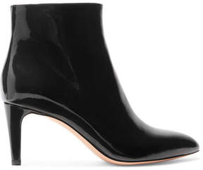 Gianvito Rossi 70 Patent-leather Ankle Boots - Black