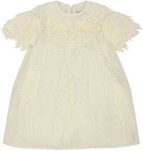 Givenchy Swan Appliqué Silk Dress