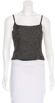 Carmen Marc Valvo Silk Embellished Top w/ Tags