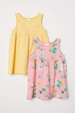 H&M 2-pack Jersey Dresses - Yellow