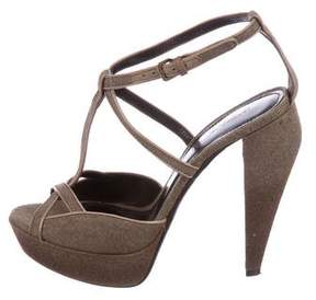 Burberry Multistrap Platform Sandals