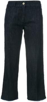 Blumarine frayed hem cropped jeans