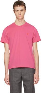 Ami Alexandre Mattiussi Pink Ami de Coeur T-Shirt