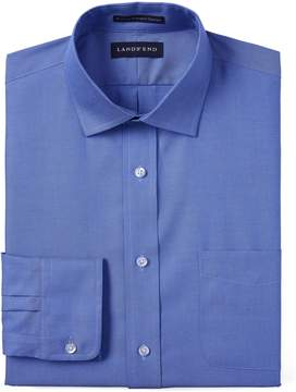 Lands' End Lands'end Men's Tall Traditional Fit Solid No Iron Supima Pinpoint Spread Collar Dress Shirt