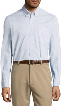 Dockers Long Sleeve Dots Button-Front Shirt