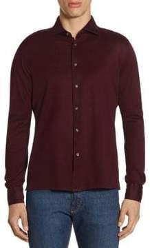 Luciano Barbera Long Sleeve Cotton Button Down Shirt