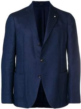 Lardini fitted blazer jacket