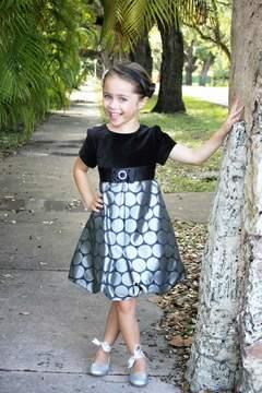 Luli & Me Velvet Dot Dress