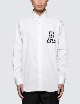 Ami Button Down Shirt With Chest Patch