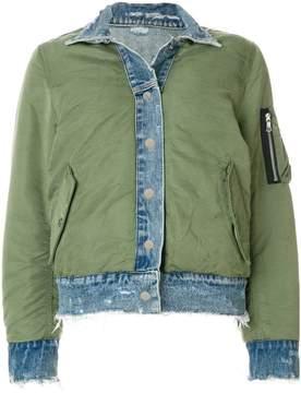 Amiri reversible bomber and denim jacket