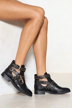 Nasty Gal Cut It Out Studded Boot
