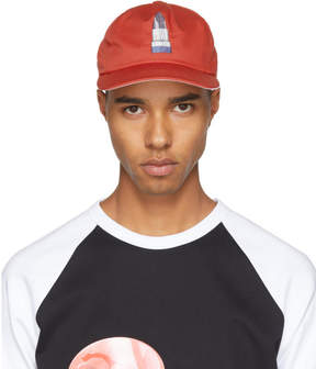Acne Studios Red Lipstick Calis Soft Baseball Cap