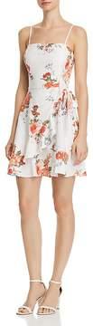 Aqua Ruffled Floral Print Faux-Wrap Dress - 100% Exclusive