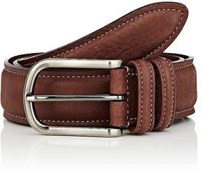 Barneys New York Men's Grained Leather Belt