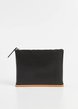 Building Block black medium pouch