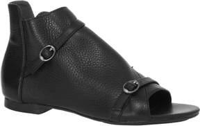 Max Studio Vino Textured Leather Peep-Toe Flat Booties