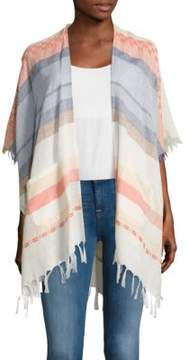 Echo Striped Open Front Cover Up