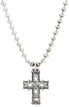 Emanuele Bicocchi Men's Cross Pendant Necklace