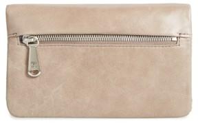 Women's Hobo West Calfskin Leather Wallet - Grey