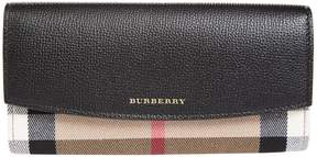 Burberry Check Detail Continental Wallet - BEIGE - STYLE