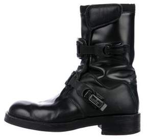 Gucci Leather Moto Boots