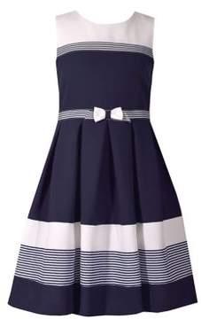 Iris & Ivy Little Girl's Nautical Colorblock Dress
