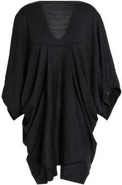 Chalayan Draped Wool-Jersey Top