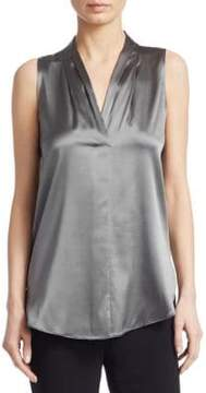 Emporio Armani Silk V-Neck Blouse