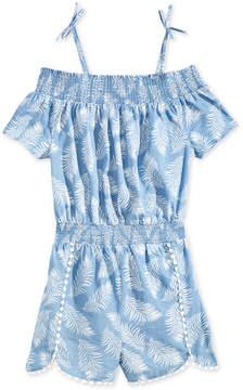 Epic Threads Leaf-Print Romper, Big Girls, Created for Macy's
