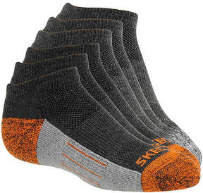 Skechers Boys' S105715 6-Pack Half Terry Low Cut Socks