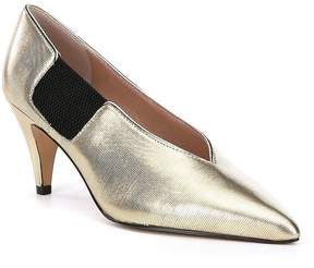 Free People Florence Metallic Leather Pumps