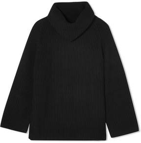 Chloé Oversized Wool Turtleneck Sweater - Black