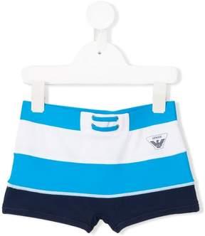 Emporio Armani Kids striped swim shorts