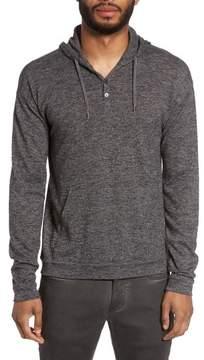 John Varvatos Men's Drop Shoulder Henley Hoodie