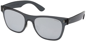 Super Duo-Lens Classic Silver/Black Fashion Sunglasses