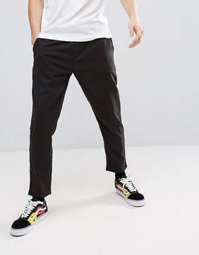 Pull&Bear Cropped Jogger In Black