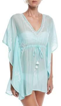 Letarte V-Neck Embroidered Lace Coverup