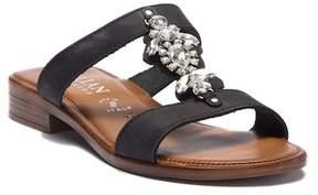 Italian Shoemakers Reza Crystal Embellished Slide Sandal