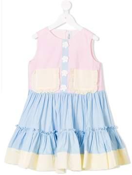 Simonetta color blocking dress
