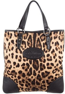 Dolce & Gabbana Leather-Trimmed Canvas Tote - BLACK - STYLE